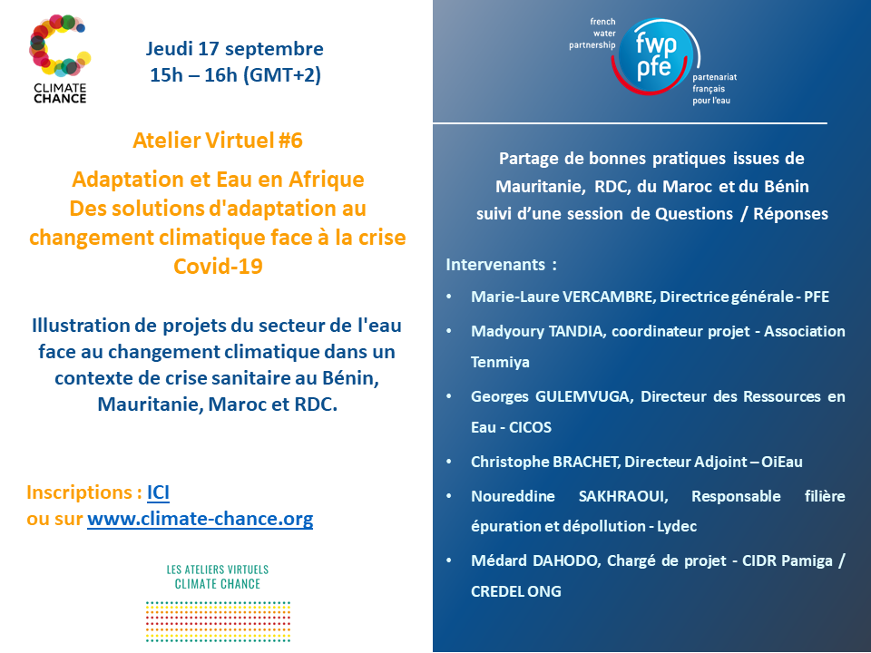 Save the date Atelier Climate Chance 17 septembre